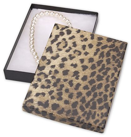 Leopard Jewelry Boxes, 7 x 5 x 7/8""