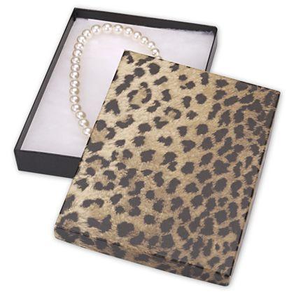 "Leopard Jewelry Boxes, 7 x 5 x 7/8"""