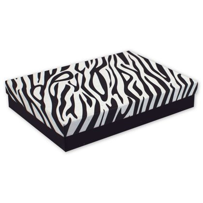 Zebra Jewelry Boxes, 7 x 5 x 1 1/4""