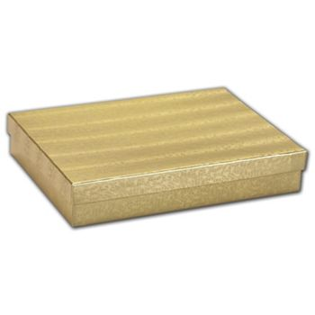 Gold Foil Embossed Jewelry Boxes, 7 x 5 x 1 1/4""