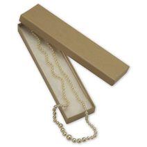"Natural Kraft Jewelry Boxes, 8 x 2 x 7/8"""