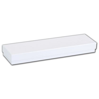 White Krome Jewelry Boxes, 8 x 2 x 7/8""