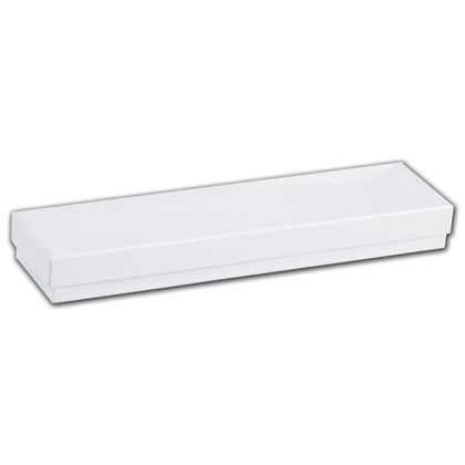 White Swirl Jewelry Boxes, 8 x 2 x 7/8""