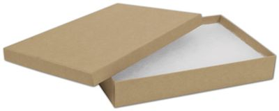 Natural Kraft Jewelry Boxes 8 x 5 12 x 1 14 Bags and Bows