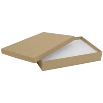 Natural Kraft Jewelry Boxes, 8 x 5 1/2 x 1 1/4""