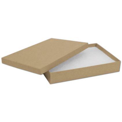 "Natural Kraft Jewelry Boxes, 8 x 5 1/2 x 1 1/4"""