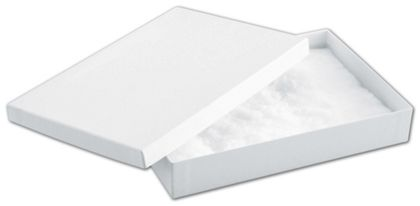 White Krome Jewelry Boxes, 8 x 5 1/2 x 1 1/4""