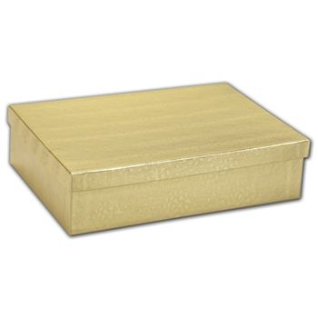 Gold Foil Embossed Jewelry Boxes, 8 x 5 1/2 x 2