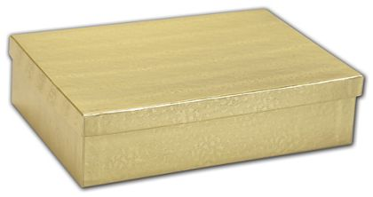 """Gold Foil Embossed Jewelry Boxes, 8 x 5 1/2 x 2"""""""