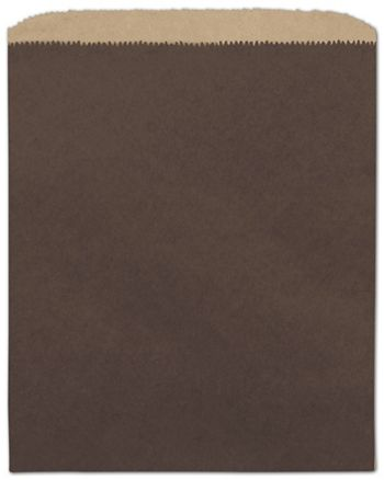 Chocolate Color-on-Kraft Merchandise Bags, 8 1/2 x 11