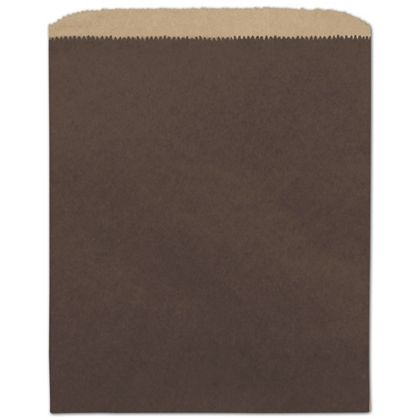 Chocolate Color-on-Kraft Merchandise Bags, 8 1/2 x 11""