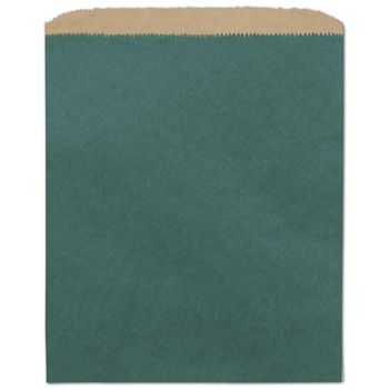 Teal Color-on-Kraft Merchandise Bags, 8 1/2 x 11