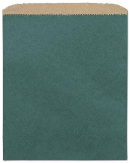 "Teal Color-on-Kraft Merchandise Bags, 8 1/2 x 11"""