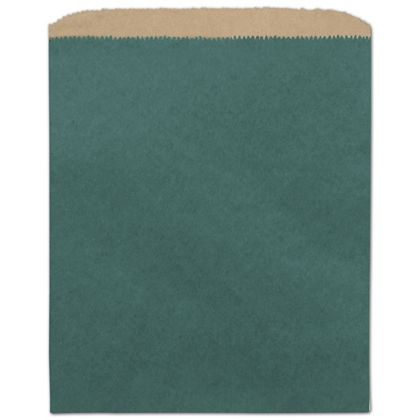 Teal Color-on-Kraft Merchandise Bags, 8 1/2 x 11""