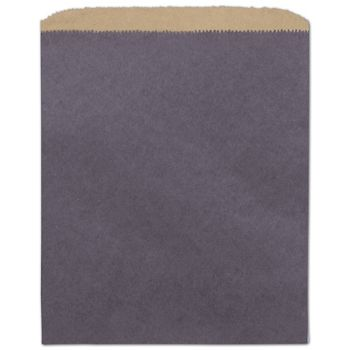 Plum Color-on-Kraft Merchandise Bags, 8 1/2 x 11
