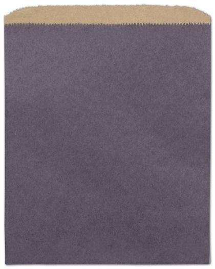"Plum Color-on-Kraft Merchandise Bags, 8 1/2 x 11"""