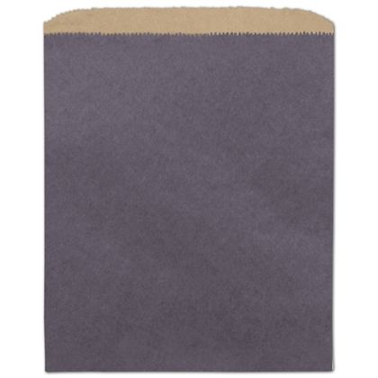Plum Color-on-Kraft Merchandise Bags, 8 1/2 x 11""