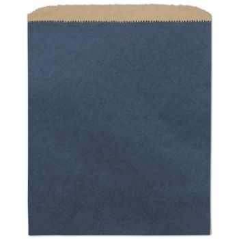 Dark Blue Color-on-Kraft Merchandise Bags, 8 1/2 x 11