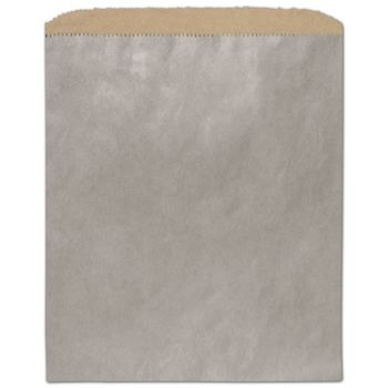 Metallic Silver Color-on-Kraft Merchandise Bags, 8 1/2x11