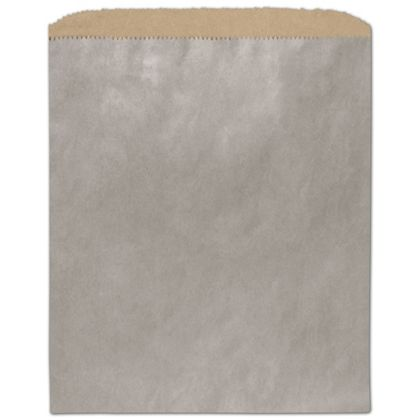 Metallic Silver Color-on-Kraft Merchandise Bags, 8 1/2x11""