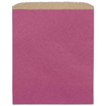 Cerise Color-on-Kraft Merchandise Bags, 8 1/2 x 11