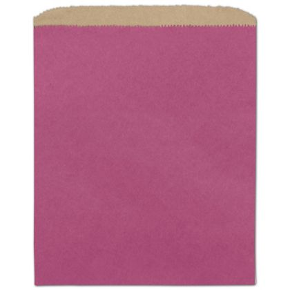 Cerise Color-on-Kraft Merchandise Bags, 8 1/2 x 11""