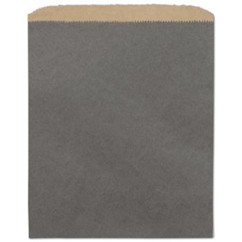 Storm Grey Color-on-Kraft Merchandise Bags, 8 1/2 x 11