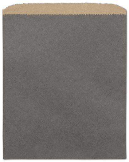 "Storm Grey Color-on-Kraft Merchandise Bags, 8 1/2 x 11"""