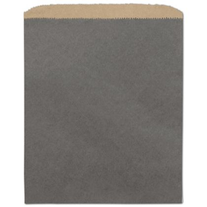 Storm Grey Color-on-Kraft Merchandise Bags, 8 1/2 x 11""