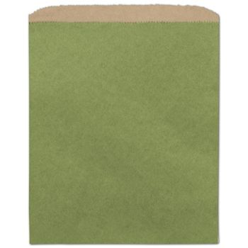 Rainforest Green Color-on-Kraft Merchandise Bags, 8 1/2x11