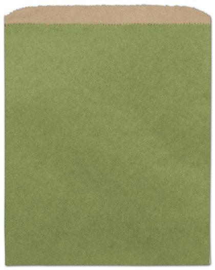 Rainforest Green Color-on-Kraft Merchandise Bags, 8 1/2x11