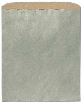 Metallic Sage Color-on-Kraft Merchandise Bags, 8 1/2 x 11
