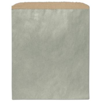 Metallic Sage Color-on-Kraft Merchandise Bags, 8 1/2 x 11