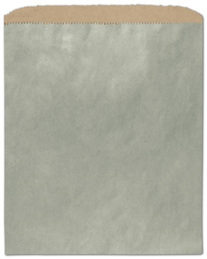 "Metallic Sage Color-on-Kraft Merchandise Bags, 8 1/2 x 11"""