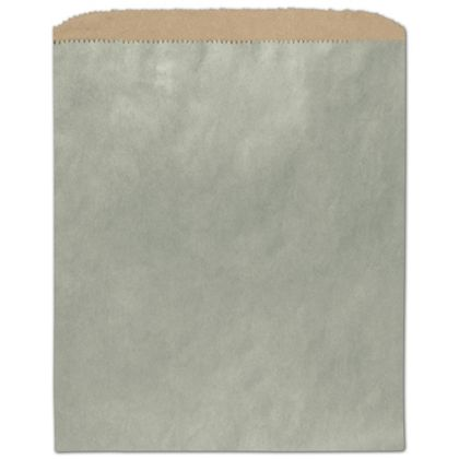 Metallic Sage Color-on-Kraft Merchandise Bags, 8 1/2 x 11""