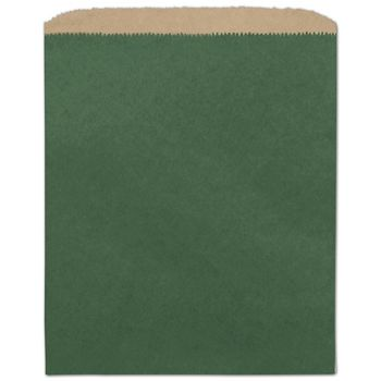 Forest Green Color-on-Kraft Merchandise Bags, 8 1/2 x 11
