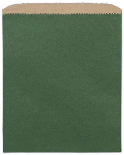 """Forest Green Color-on-Kraft Merchandise Bags, 8 1/2 x 11"""""""