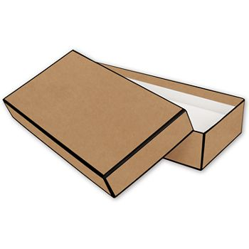 Kraft Jewelry Boxes, 9 x 4 1/2 x 2