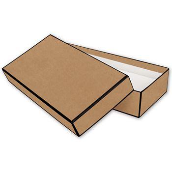 Kraft Jewelry Boxes, 9 x 4 1/2 x 2