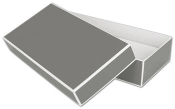 Slate Grey Jewelry Boxes, 9 x 4 1/2 x 2