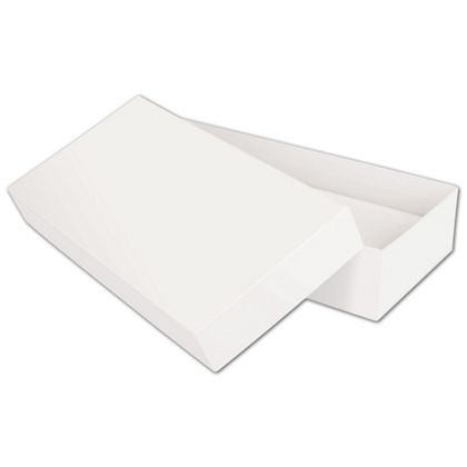 Solid White Jewelry Boxes, 9 x 4 1/2 x 2""