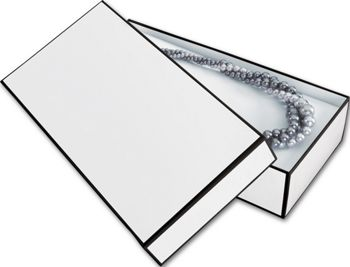 Whiteboard White Jewelry Boxes, 9 x 4 1/2 x 2