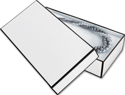 Whiteboard White Jewelry Boxes, 9 x 4 1/2 x 2""
