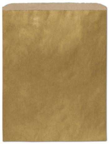 Metallic Gold Color-on-Kraft Merchandise Bags, 12 x 15