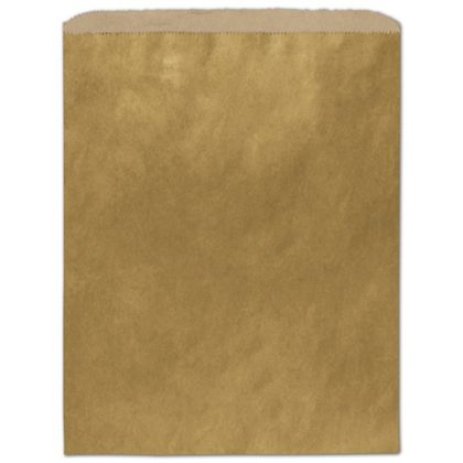 Metallic Gold Color-on-Kraft Merchandise Bags, 12 x 15""