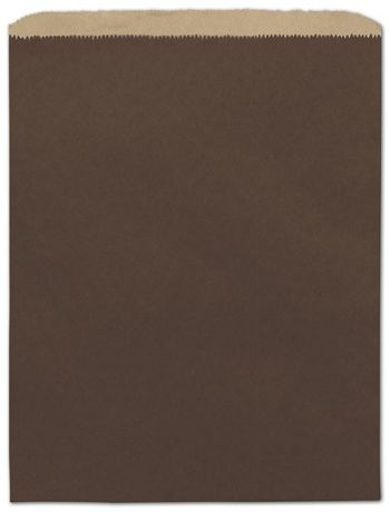 Chocolate Color-on-Kraft Merchandise Bags, 12 x 15