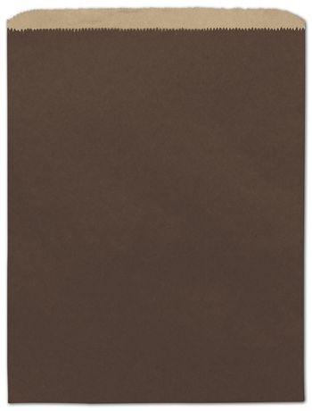 Chocolate Color-on-Kraft Merchandise Bags, 12 x 15