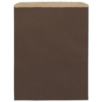 Chocolate Color-on-Kraft Merchandise Bags, 12 x 15""