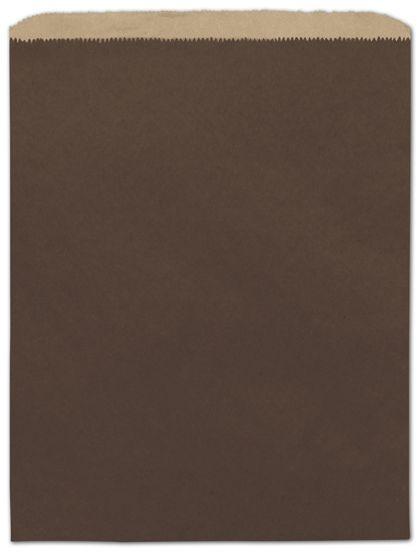 "Chocolate Color-on-Kraft Merchandise Bags, 12 x 15"""