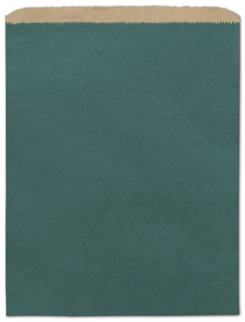Teal Color-on-Kraft Merchandise Bags, 12 x 15